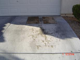 Driveway Steamcleaning Heavy Oil Stain Removal